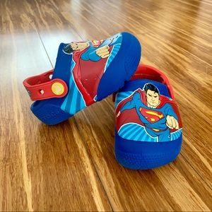 Superman Light 💡 Up Toddler Crocs